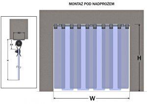 mocowanie rurowe pod nadprożem ZWRA