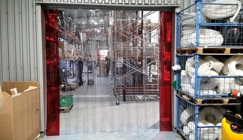 kurtyny paskowe PVC w magazynie